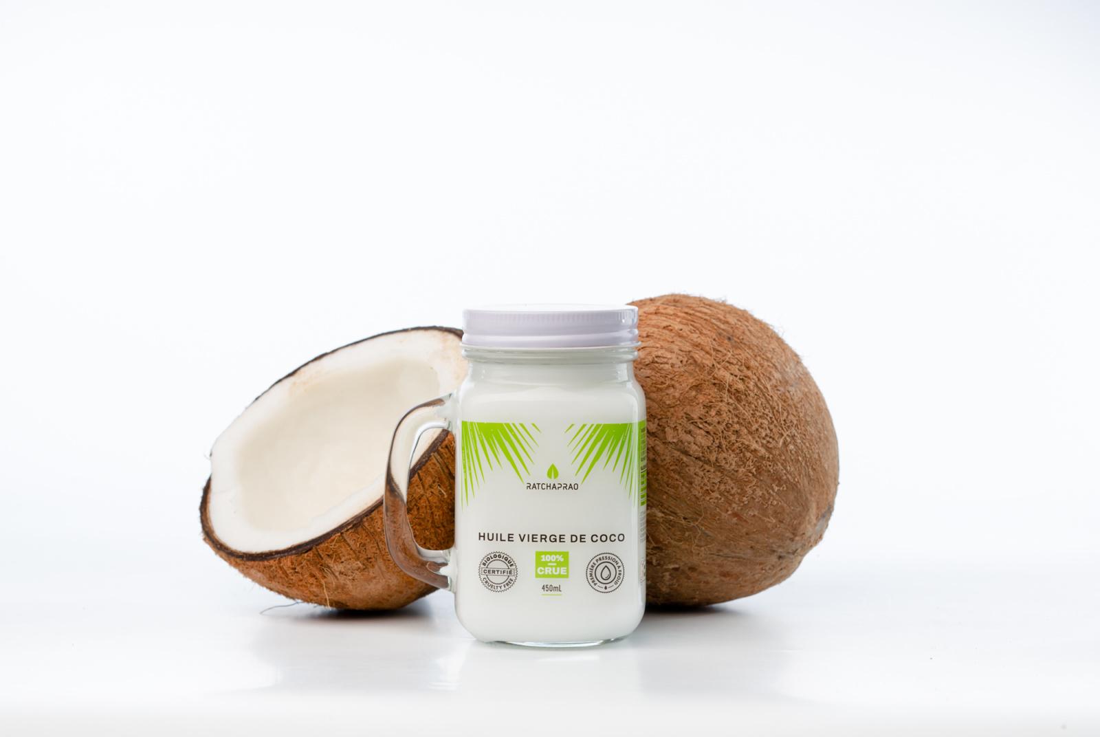 Pot huile vierge de coco RATCHAPRAO 450ml