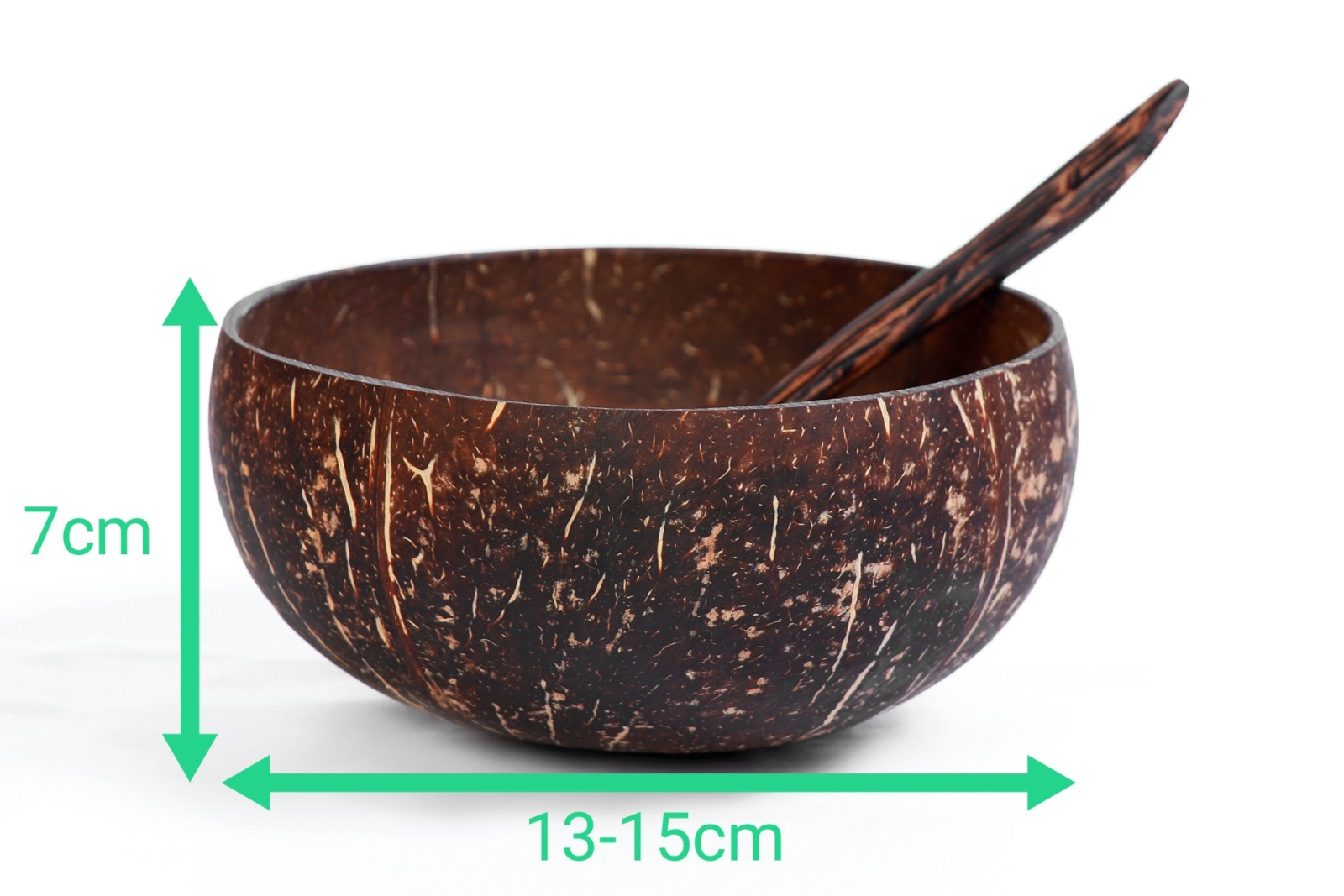 bols noix de coco avec précision des dimensions