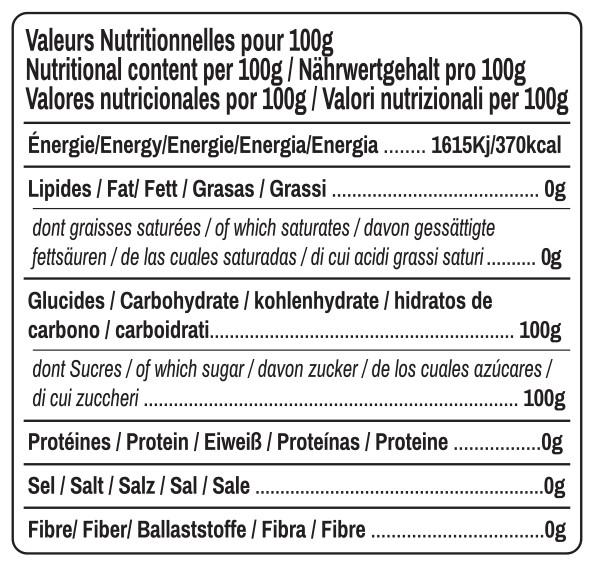 valeurs nutritionelles sucre de coco Ratchaprao