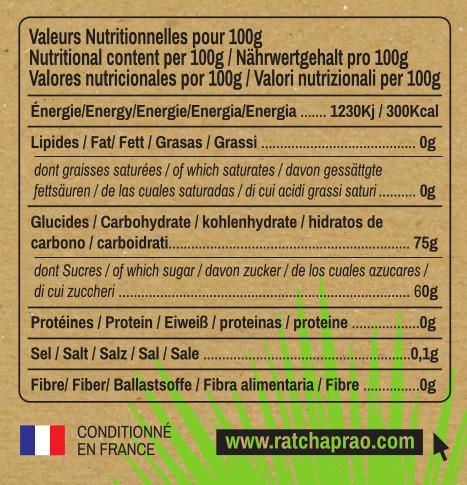 valeurs nutritionnelles nectar de coco Ratchaprao