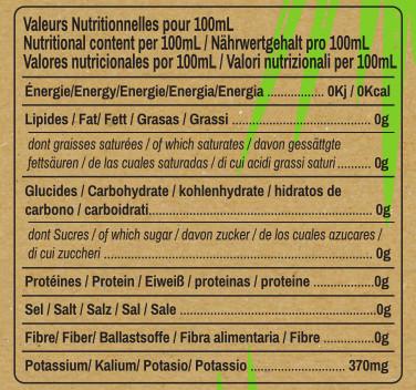 valeurs nutritionnelles vinaigre de coco Ratchaprao